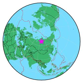 Earthquake - Magnitude 4.7 - NORTHCENTRAL SIBERIA, RUSSIA ... on poland map, iraq map, germany map, france map, europe map, saudi arabia map, japan map, eurasia map, china map, korea map, india map, asia map, soviet union map, united kingdom map, canada map, africa map, italy map, romania map, baltic map, australia map,